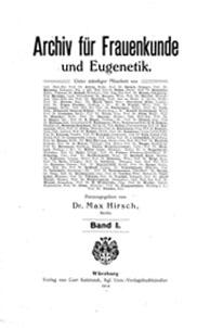 """Titelblatt """"Archiv für Frauenkunde"""""""