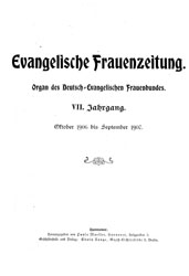 """Cover """"Evangelische Frauenzeitung"""""""