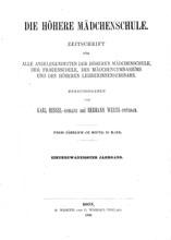 "Cover ""Die Mädchenschule"""