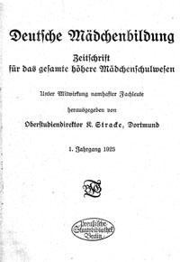 """Cover """"Deutsche Mädchenbildung"""""""