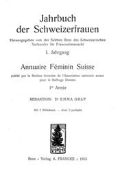 """Cover """"Jahrbuch der Schweizerfrauen"""""""